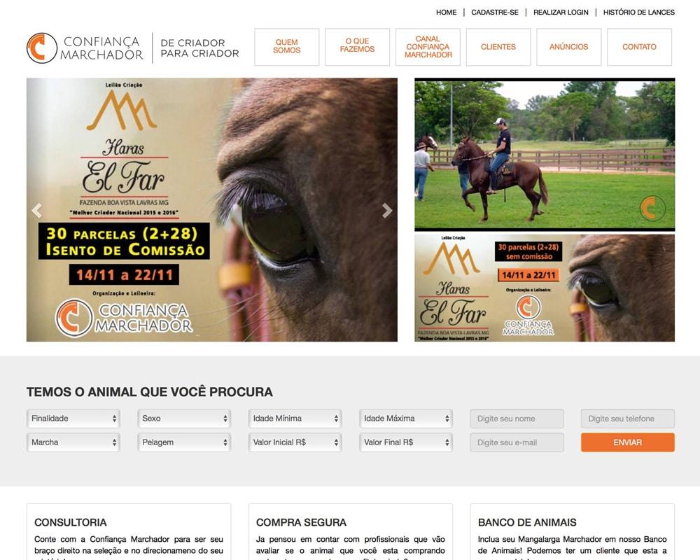 Confiança Marchador - Leilão de Cavalos